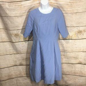 Vince Camuto periwinkle blue dress zipper sz 6 626